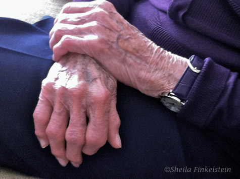 96 year old mother's hands