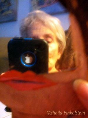 Sheila Finkelstein abstract mirror image
